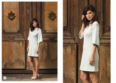 basic dress.algodon y lurex tejido 100%artesanal Caro Sosa 2016.