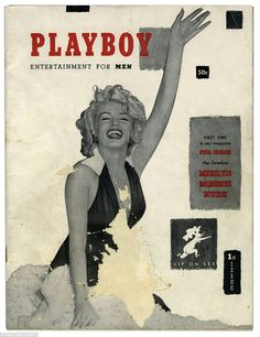 The first edition Playboy magazine featuring Marilyn Monroe in December 1953