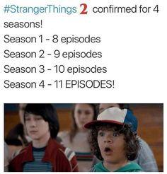 Stranger things. Yesss four seasons!