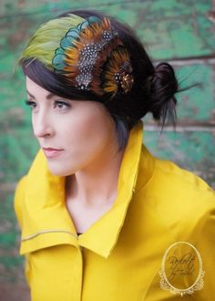 feathered headband