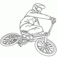 Bmx bike color in coloring page riscos meios de for Bmx coloring pages