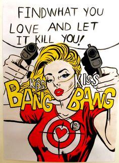 Buk♤ Pop Art Drawing, Art Drawings, Arte Do Pulp Fiction, Pub Vintage, Comic Art Girls, Comic Manga, Cute Canvas, Pop Art Girl, Tank Girl