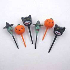Vintage Black Cat Witch and Jack O Lantern Halloween Novelty