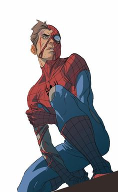 "wearemarvel: "" Spider-man - Stefano Caselli A Pencil with a brain! wearemarvel """