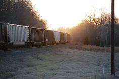 Morning train near Clarksville, Arkansas.
