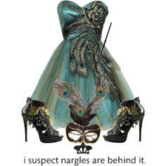 Beautiful Peacock masquerade dress.