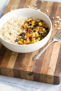 Chipotle Black Bean, Corn, and Rice Bowl | Naturally Ella