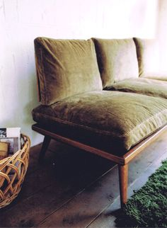 Olive velvet for my couch??