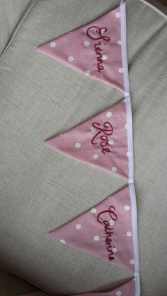 Personalised bunting.  Handmade in Scotland from The Wee Love Nest.  Www.facebook.com/theweelovenest