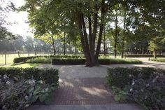Het authentieke karakter van deze monumental boerderij, wordt in het bijzonder versterkt door de groene omgeving. Er is gekozen voor haagstructuren en boomsoorten die passen in een landelijke uitstraling, zoals Beukenhagen, Eiken- en Lindebomen en andere beplantingsmaterialen die van nature voorkomen in het Nederlandse landschap. De oorspronkelijke korte oprit is verlegd naar de andere zijde van het perceel, waardoor er een lange oprijlaan is ontstaan geflankeerd door twee weides.