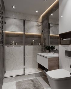 for shower room idea Modern Bathroom Design, Simple Bathroom, Bathroom Interior Design, Bathroom Sets, Home Interior, Modern Ceiling Design, Casa Santa Rita, Bathroom Styling, Bathroom Inspiration
