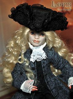 OOAK Mattel Monster High Gargoyle Boy Repaint Dressed Doll. Very beautiful doll. Reminds me of Lestat from interview with a Vampire the movie by Anne Rice. Which is one of my favorite authors. Love. The blonde in the pic.