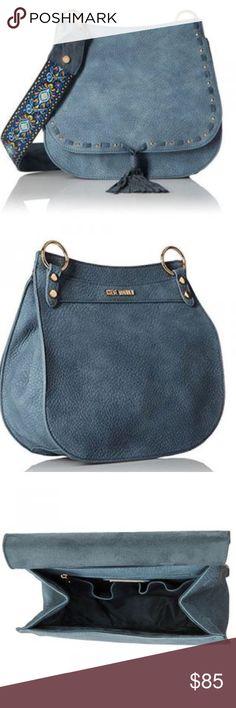 059d2d42f799 Blue Saddle Bag w  Boho Embroidered Guitar Strap