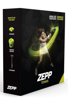 Men's Zepp 3D Tennis Swing Analyzer - Green