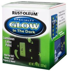 Rust-Oleum 214945 Glow in the Dark 7-Ounce. to paint walkway stones or sidewalk. instead of dealing with path lights