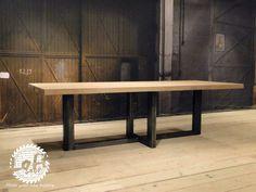Stół INDUSTRIALNY ze stali CROSSROADS stare drewno