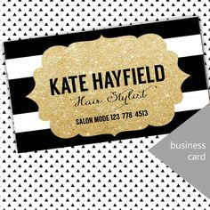 Modern Hair Stylist Business Card by InviteDesign on Etsy
