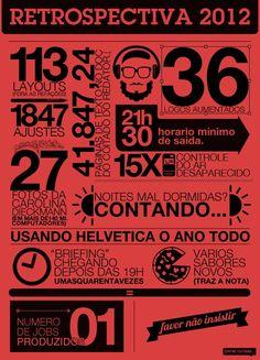 Infográfico: Retrospectiva 2012 | Assuntos Criativos
