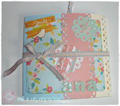 Un alegre #mini #album #scrap Scrap, Album, Hand Made, Creativity, Blue Prints, Card Book