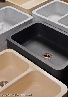 Stone Forest Polished Farmsinks  Fully polished or honed farmsinks can be apron mounted or undermounted with adequate support.  10 x 33 x 22 in.  C04-33PF and C04-33DPF  laundry option