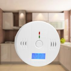 Carbon Monoxide Detectors Professional Home Safety Co Carbon Monoxide Poisoning Smoke Gas Sensor Warning Alarm Detector Abs Lcd Displayer Kitchen Rapid Heat Dissipation