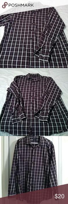 VanHeusen Men's shirt Purple VanHeusen long sleeve button down shirt. Great Condition. Neck size 17 1/2 size 34/35 Van Heusen Shirts