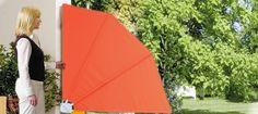 #Wandklappschirm seitlicher #Sichtschutz gegen tiefstehende Sonne, leichten Wind und/oder neugierige Blicke - ideal für kleinen #Balkon in #Wiesbaden #Nordenstadt #Hofheim #Niedernhausen #Eltville vom Meisterbetrieb in #Delkenheim