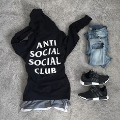 WEBSTA @ derekcdo - DabHoodie: #antisocialsocialclubShirt: #zaraJeans: #hmShoes: #adidasnmd