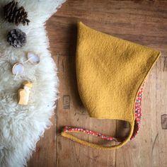 Wool Pixie Hat Ochre Yellow