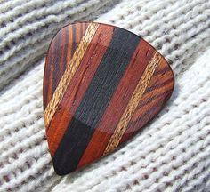 custom wood guitar pic
