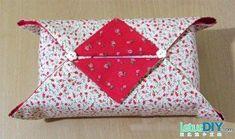 DIY  Tissue Holder  : DIY fabric art - tissue box cover
