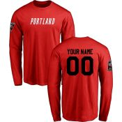 Men's Portland Trail Blazers Design-Your-Own Long Sleeve T-Shirt- - NBA Store