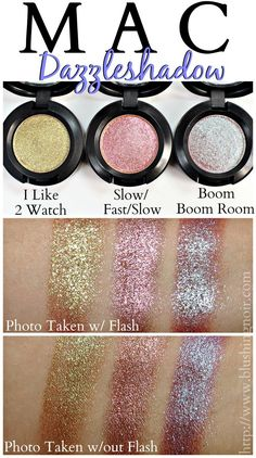 MAC Dazzleshadow Eyeshadow Swatches