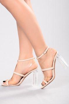 d30ebde3169 Almost Clear II Heel - Beige. Fashion Nova ...