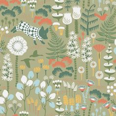 Hoppmosse wallpaper from Boråstapeter, collection Wonderland.