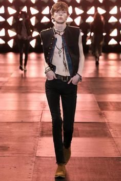 Saint Laurent Spring 2015 Menswear - Collection - Gallery - Look 1 - Style.com