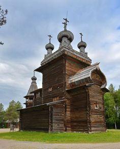 """Wooden Architecture Museum """"Malye Korely"""" near Arkhangelsk, Russia"""