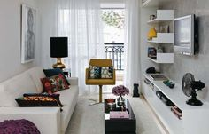 small narrow living room ideas with tv - Google Search