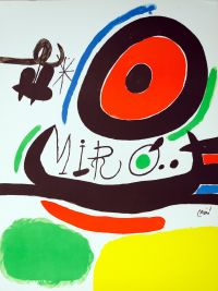 MIRO Joan 1893-1983 - Tres libres. Lithographie originale, 1970... - Auction
