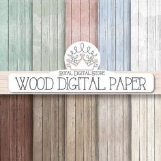 "Wood digital paper: ""Wood Digital Paper""  with wood background, rustic wood texture, wood printable, scrapbook wood for invitations, cards #scrapbooking #shabby"