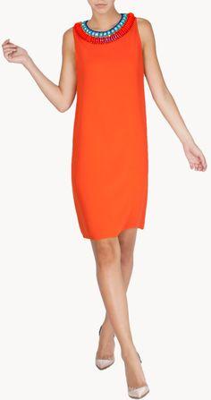 Alquiler Vestido corto naranja sin mangas | Issa London | 24FAB | 1964