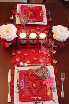#DIY #Valentine's Day table for two