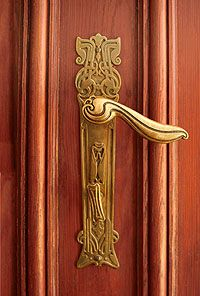 Door Handles - Door fittings in art nouveau