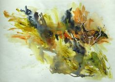 The chase, 2014 Watercolor painting by Anna Sidi, available on Artfinder 150 euro.