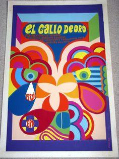 icaic El Gallo De Oro Nico 1969 cuba cuban poster