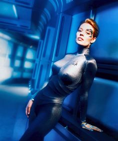 Seven of Nine my Gawed look at that body it was common sense for them to put her in a skin tight suit and a smart move! Lol