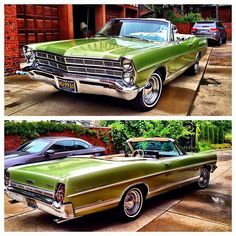 1965 Ford Galaxie 500 Convertible. I've driven my uncles red one. It's so gorgeous in green.