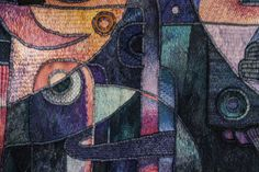 """Handwoven Peruvian Tapestry by Maxmio Laura """"Chant of the Jaguar"""" 122 x 260 cm, Tapestry Art"""