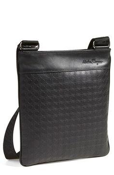 44ed29923f30 Men s Salvatore Ferragamo  Gamma  Shoulder Bag - Grey Men s Backpack