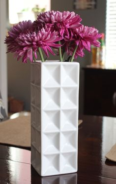 White geometric vase from Target